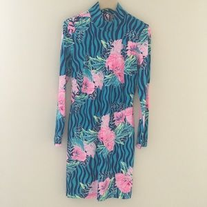 Lilly Pulitzer Long Sleeve Knit Jersey Dress